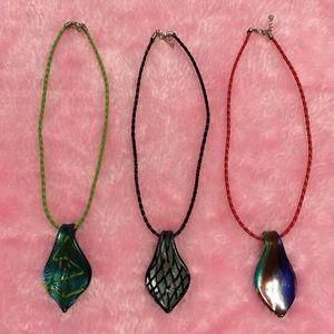 Jewelry - Leaf Glass Pendant Set of 3